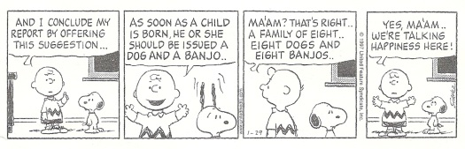 See? If Charlie had a banjo, his life would've turned a corner!