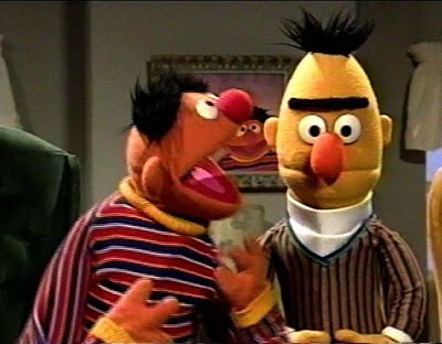 I even had a Bert puppet! I was the cool kid.