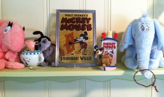 The shelf above my desk. Good stuff.