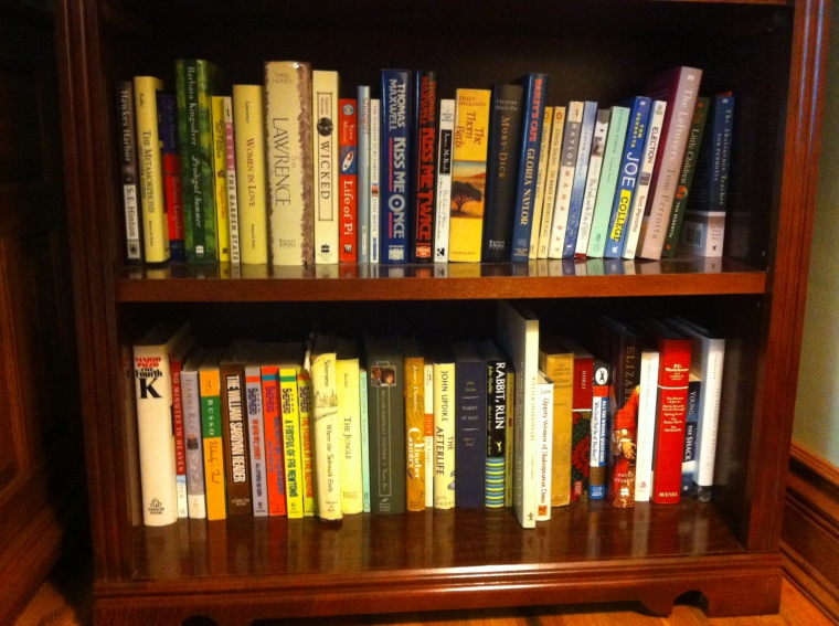 Some shelves from the living room/library...