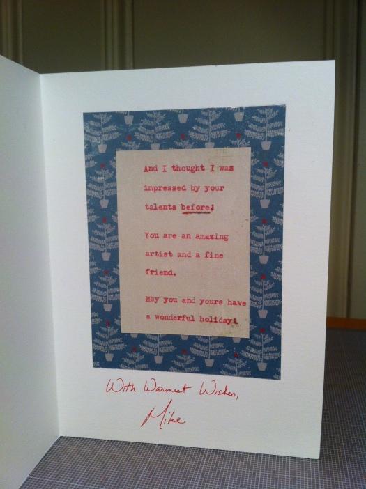 My Christmas Card inside