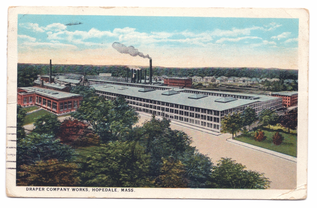 postcard of factory