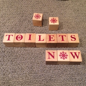 Blocks toilets now