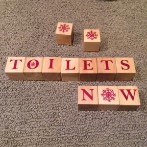 Blocks toilets now